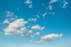 Blue sky white clouds Nature background. Blue sky with white clouds. Nature background Royalty Free Stock Photography