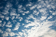 Blue sky and white clouds nature background Stock Images