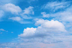 Blue sky with white clouds. Nature background. Environment Royalty Free Stock Photo