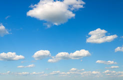Blue sky with white clouds. Royalty Free Stock Photo