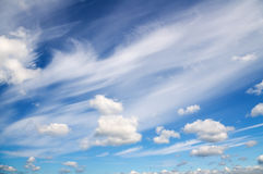 Blue sky with white clouds. Royalty Free Stock Photography