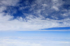 The blue sky and white clouds Royalty Free Stock Images