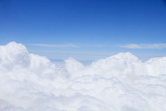 The blue sky and white clouds Royalty Free Stock Photography