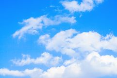 Blue sky and white clouds relax photo of nature background royalty free stock photos
