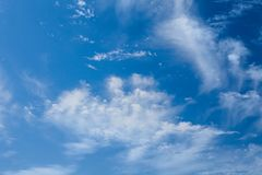 Blue sky with white clouds in sanny day. Background. Blue sky with white clouds in sanny day. Sky background royalty free stock image