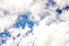 Blue Sky With White Clouds Screenshot Stock Photo