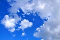 Blue sky with white clouds. This shot was taken in Kusadasi, Turkey Royalty Free Stock Photo
