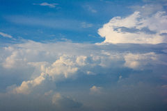 The blue sky and white clouds. Blue skies and white clouds in the clear sky Royalty Free Stock Photo