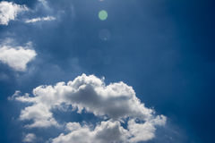 The blue sky and white clouds. Blue skies and white clouds in the clear sky Stock Photos