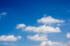 The blue sky and white clouds. Blue skies and white clouds in the clear sky Royalty Free Stock Photography