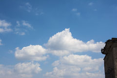 The blue sky and white clouds. Blue skies and white clouds in the clear sky Stock Images