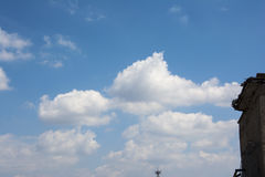 The blue sky and white clouds. Blue skies and white clouds in the clear sky Stock Photography