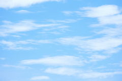 Blue sky and white clouds. stock images