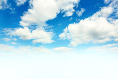Blue sky and white clouds. Stock Image