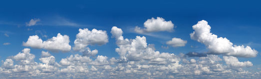 Blue sky and white clouds. Spring background Stock Photography