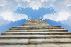 The blue sky and white clouds Royalty Free Stock Photo