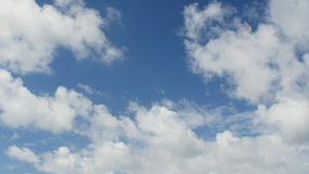 Sky with white clouds. Blue sky with white clouds,summer day stock footage