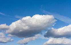 Blue sky and white clouds 2. Blue sky and white clouds on a sunny day Royalty Free Stock Photos
