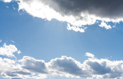 Blue sky and white clouds 9. Blue sky and white clouds on a sunny day Royalty Free Stock Photography
