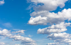 Blue sky and white clouds 4. Blue sky and white clouds on a sunny day Stock Image