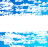 Blue sky white clouds text area Royalty Free Stock Photos