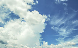 Blue Sky. & white clouds in thailand Royalty Free Stock Photography
