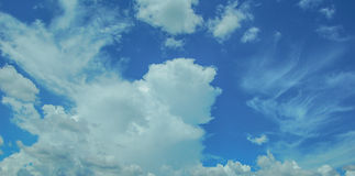 Blue Sky. & white clouds in thailand Stock Photo