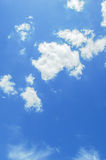 Blue Sky. & white clouds in thailand Stock Photography