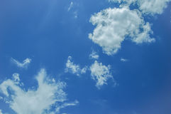 Blue Sky. & white clouds in thailand Stock Image