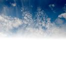 Blue sky with white clouds and  with the transition Royalty Free Stock Images