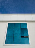 Blue Sky White Clouds Window Reflection Stock Photography