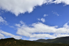 Blue Sky and White Clouds. Of the Yunnan Guizhou Plateau Royalty Free Stock Photos