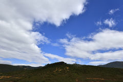 Blue Sky and White Clouds. Of the Yunnan Guizhou Plateau Royalty Free Stock Photography