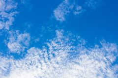 Blue sky and white cloudy for background. Royalty Free Stock Photo