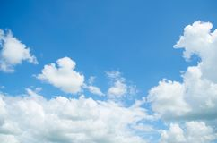 Blue Sky and White Cloudy Beautiful. Morning Stock Photography