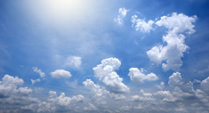 Blue sky and white cloudy Stock Photo