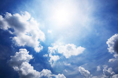 Blue sky and white cloudy Royalty Free Stock Photo