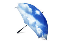 Blue Sky with White Cumulus Cloud on umbrella Royalty Free Stock Photo