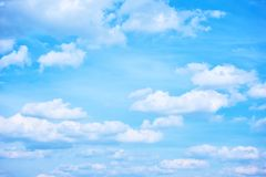 Blue sky with clouds. Blue sky with white heap clouds - Background stock photo