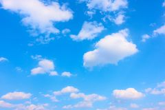 Blue sky with white heap clouds stock images