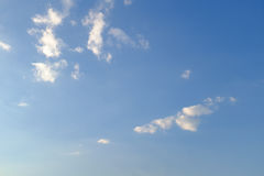 Blue sky, white jade. At sunset, the sky is beautiful under the background of blue sky and white clouds Stock Images