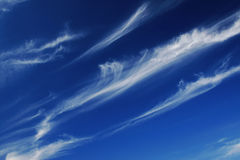 Blue sky with white lines Stock Photo