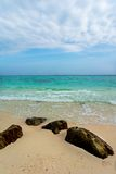 Blue sky and white sand at Bamboo Island, Thailand Stock Photography