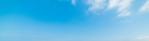 Blue sky with small clouds in springtime Stock Photo