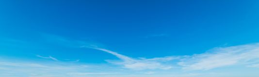 Blue and white sky in spring royalty free stock images