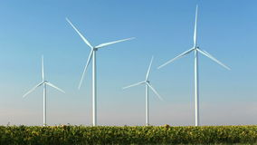 Blue sky and wind power Royalty Free Stock Images