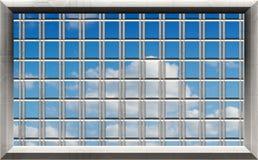 Blue sky through window bars Stock Image