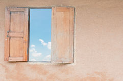 Blue sky with window Stock Photography