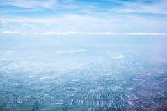 Blue sky, window view Royalty Free Stock Photos