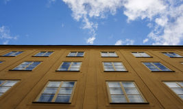 Blue sky in windows Royalty Free Stock Photo